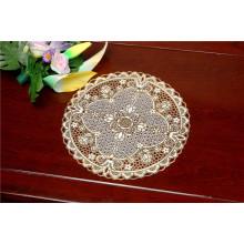 Дешевые 30см круглый кружево золото ПВХ теплоизолирующая подставка популярная польза кофе/дома