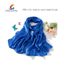 W4159 LINGSHANG dress for woman new product silk wholesale fashion design chiffon shawl scarf