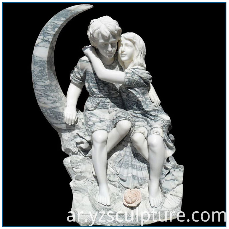Marble Couple Statue