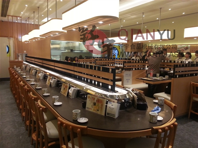 Mobile Angle Conveyor Belt For Sushi