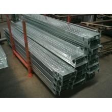 Andamio galvanizado Tablero de acero para gancho de construcción Galv Tablón de metal