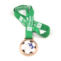 3D Custom Made Sport Stainless Steel Soccer Medal