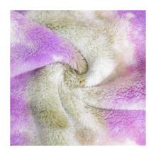 Hot selling velvet knitting fabric 150D tie dye 100% polyester fleece fabric for jacket blanket garment trousers