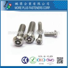 TAIWAN haute qualité C1022 acier nickel M3 bouton tête torx conducteur sécurité vis