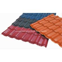 Telha vitrificada da resina de Asa anticorrosiva do vermelho de tijolo para o telhado