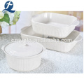 China Großhandel New Design Royal White Keramik Steinzeug Dinner Set