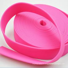La sangle élastique de Braide a adapté la sangle imprimée par polyester enduite par PVC de taille adaptée aux besoins du client