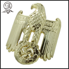 Gold 3D Eagle badge pin clip