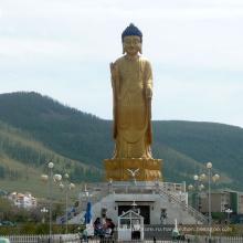 высокое качество стоящая современная латунь статуя Будды