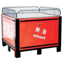 Fashion design populaire supermarché métal promotion table/acier affichage chariot/Stand promotionnel table pliante