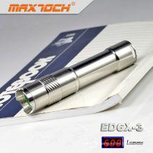 Acero inoxidable Maxtoch ED6X-3 linterna aluminio barato Mini linterna LED
