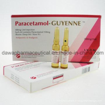 Stock prêt pour Traiter la fièvre Paracetamol Injection