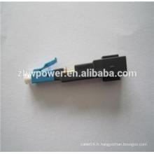 FTTH FC SC LC mode multi mode Quick Coupler, Quick Assembly Connector, fibre optique rapide rapide