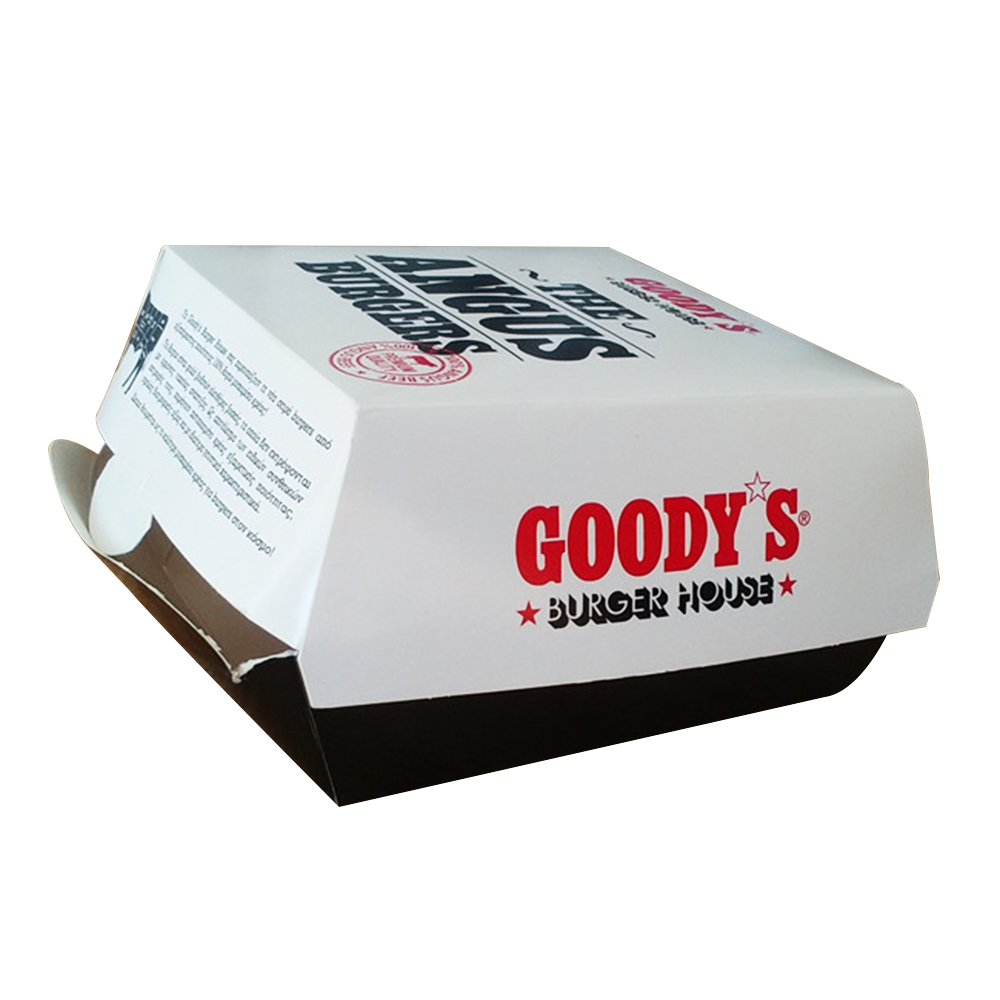 Kraft Paper Fast Food Take Away Hamburger Box 3