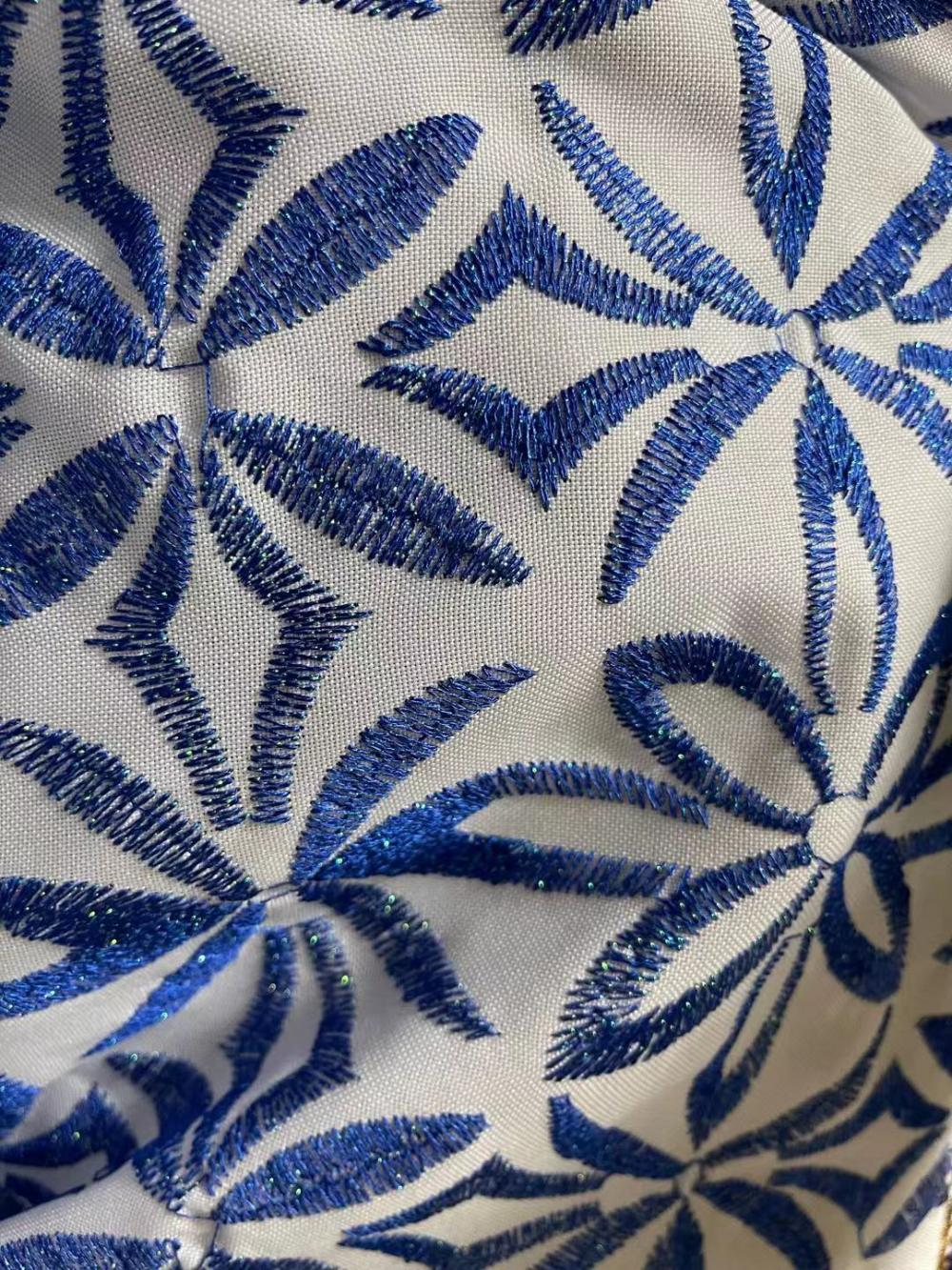 Metallic Satin Embroidery Fabric
