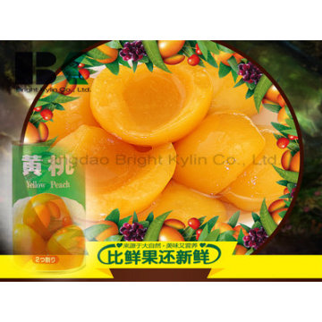 Canned Yellow Peach Fruit Flavour Is Dye-in-The-Wood