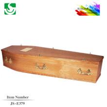 boîte de cercueil en bois massif mélèze avec poignées en métal