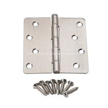 Bisagra de puerta de acero de esquina redonda estilo americano