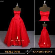 Party Kleid Design Satin Tüll Ballkleid Abendkleid roten Kleid für junge Damen