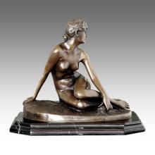 Nackte Figur Statue Mädchen fehlt Bronze Skulptur TPE-419