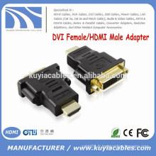 DVI haute qualité DVI 24 + 5 à HDMI Adaptateur DVI femelle à HDMI Connecteur mâle