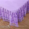 Ensemble de literie coréen de coton de lavage de sable de frontière de dentelle, propagation de lit d'hôtel