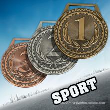 LC JUNIOR OLYMPICS médailles personnalisées aucune commande minimale médailles et trophées et médailles médailles de Chine sport / médaille olympique avec ruban