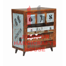 Muebles de madera impresos de la barra