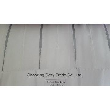 Neue Art- und Weiseprojekt-Streifen-Organza-bloßer Vorhang-Gewebe 008288hui