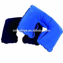 travesseiro de viagem inflável de PVC, travesseiro inflável de salto