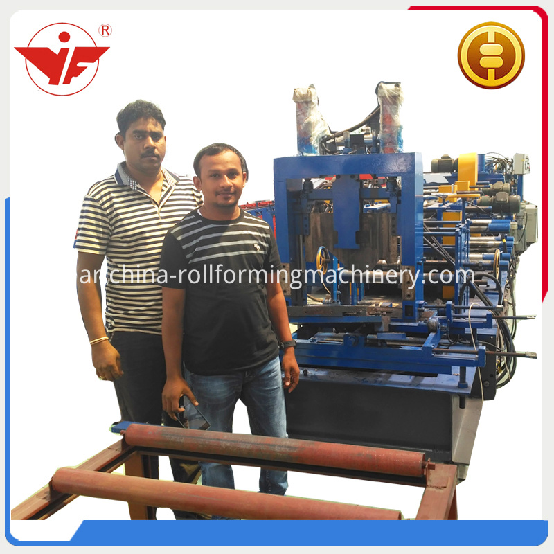 Srilanka Client With Our Automatic C Z Interchangeable Purlin Roll Forming Machine