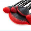 Professionelle 24 PCS Lidschatten Lippen Make-up Pinsel Set für Weihnachten