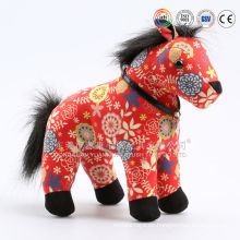 Peluche de peluche suave blanco caballo de juguete y Red Horse peluche de juguete para niños