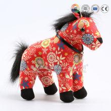 Brinquedo macio branco do cavalo do luxuoso enchido & brinquedo vermelho do luxuoso do cavalo para crianças