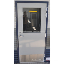 Grey PU paint flush door design for container homes