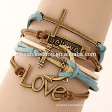 Les bracelets tissés à bas prix multicouches