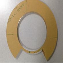 Kundenspezifische klare Acrylplatte 3mm Unterstützung Laserschneiden