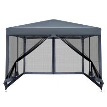 Tenda com gazebo transparente 3x3 com rede mosquiteira