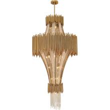 Hôtel de luxe grand hall moderne perles de cristal K9 salle de réunion lustre lumière