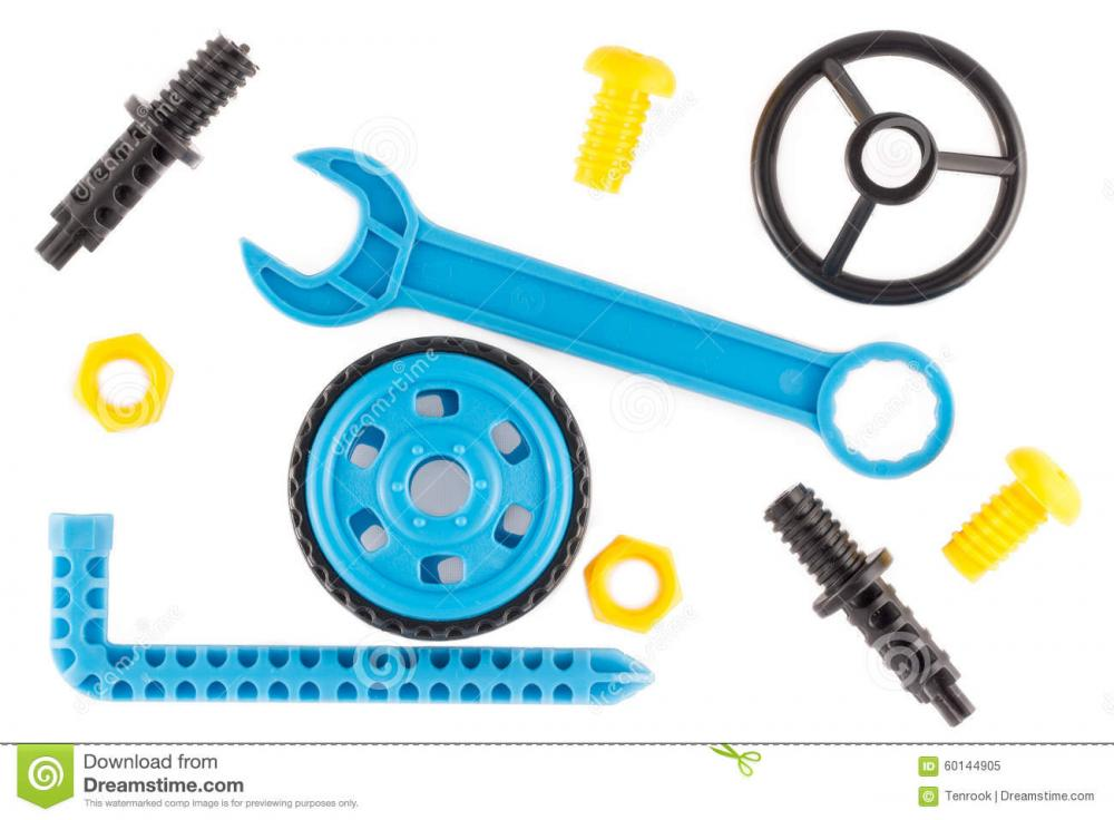 Wrench Steering Wheel Wheel Bolts Nuts As Parts Childrens Educational Plastic Designer 60144905