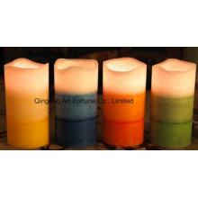 Беспламенная многослойная ароматизированная светодиодная восковая свеча для домашнего декора