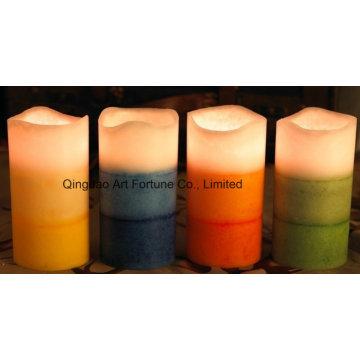 Bougie parfumée à la menthe à LED sans flamme pour décoration intérieure