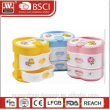 Boîte de rangement en plastique coloré (2 couches)