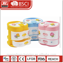 Colorful plastic storage box(2 layer)