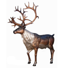 Garden Decoration Casting Bronze Metal Craft Life Size Deer Statues
