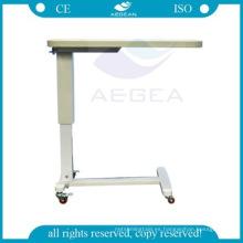 AG-OBT003 Bandejas de cama ajustables hospitalarias económicas de ABS del material