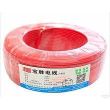 BVR10mm2 pvc hook-up wire copper electric cable house wiring materials different types pvc insulation cable