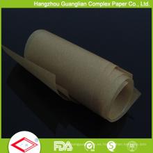 Rollo de papel de pergamino sin blanquear de color marrón de 25 pies en caja de corte