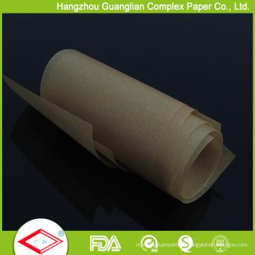 Rolo não-branqueado do papel de pergaminho da cor de 25FT Brown na caixa de cortador