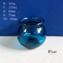 150ml Colored Blue Glass Candle Jar Glass Candle Holder Glass Painted Jar